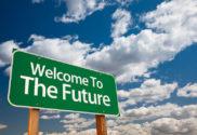 Letrero: Welcome to the future.